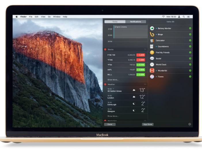 Herzie de weergave Vandaag in Mac OS X